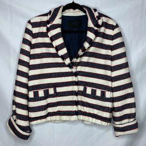 JCREW Collection Striped Tweed Legion Blazer